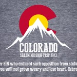 This was the design for the back of our Mission Trip to Colorado in 2013
